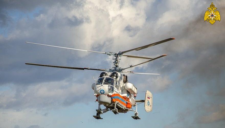 Ночью вертолёт санавиации вылетал на помощь жителю Тверской области