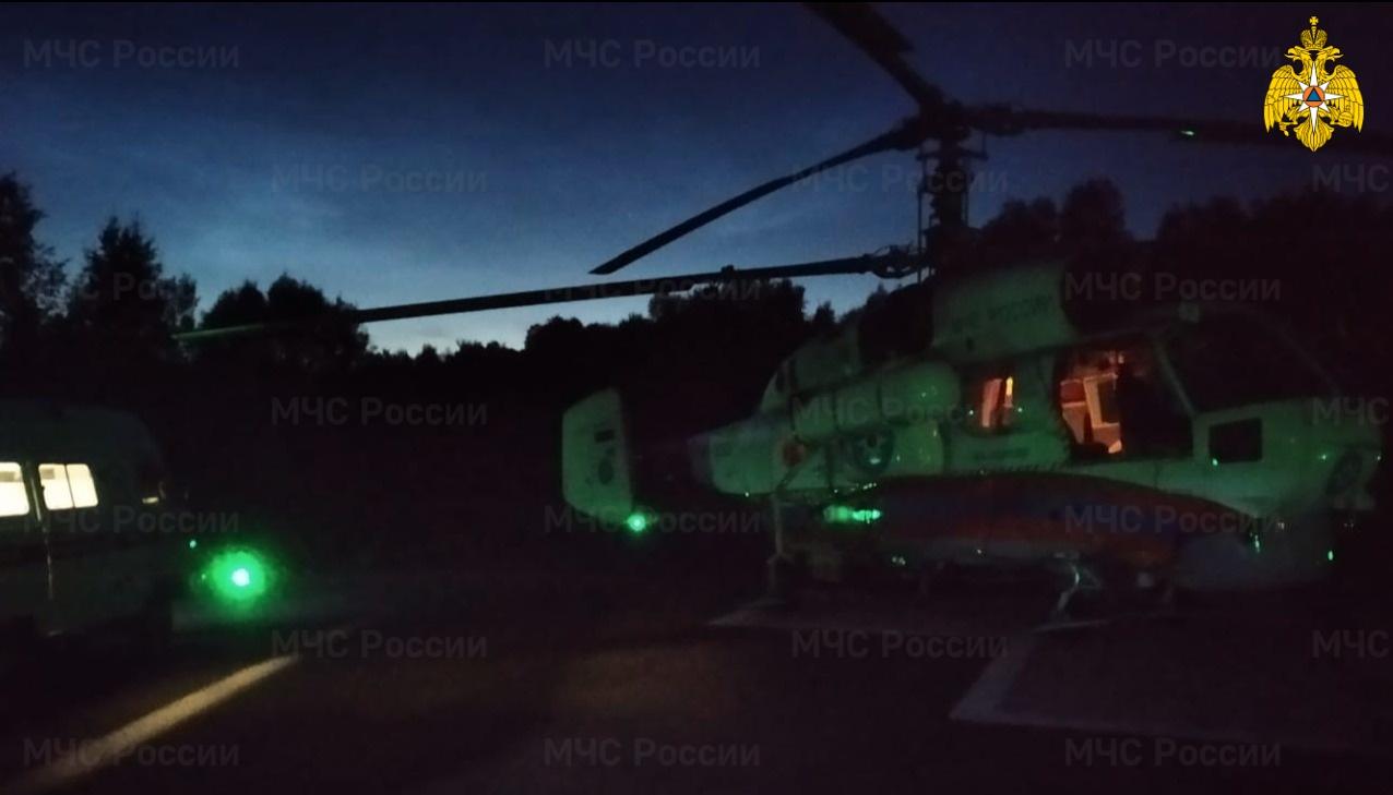 Ночью ребёнка эвакуировали вертолётом из районной больницы в Тверской области