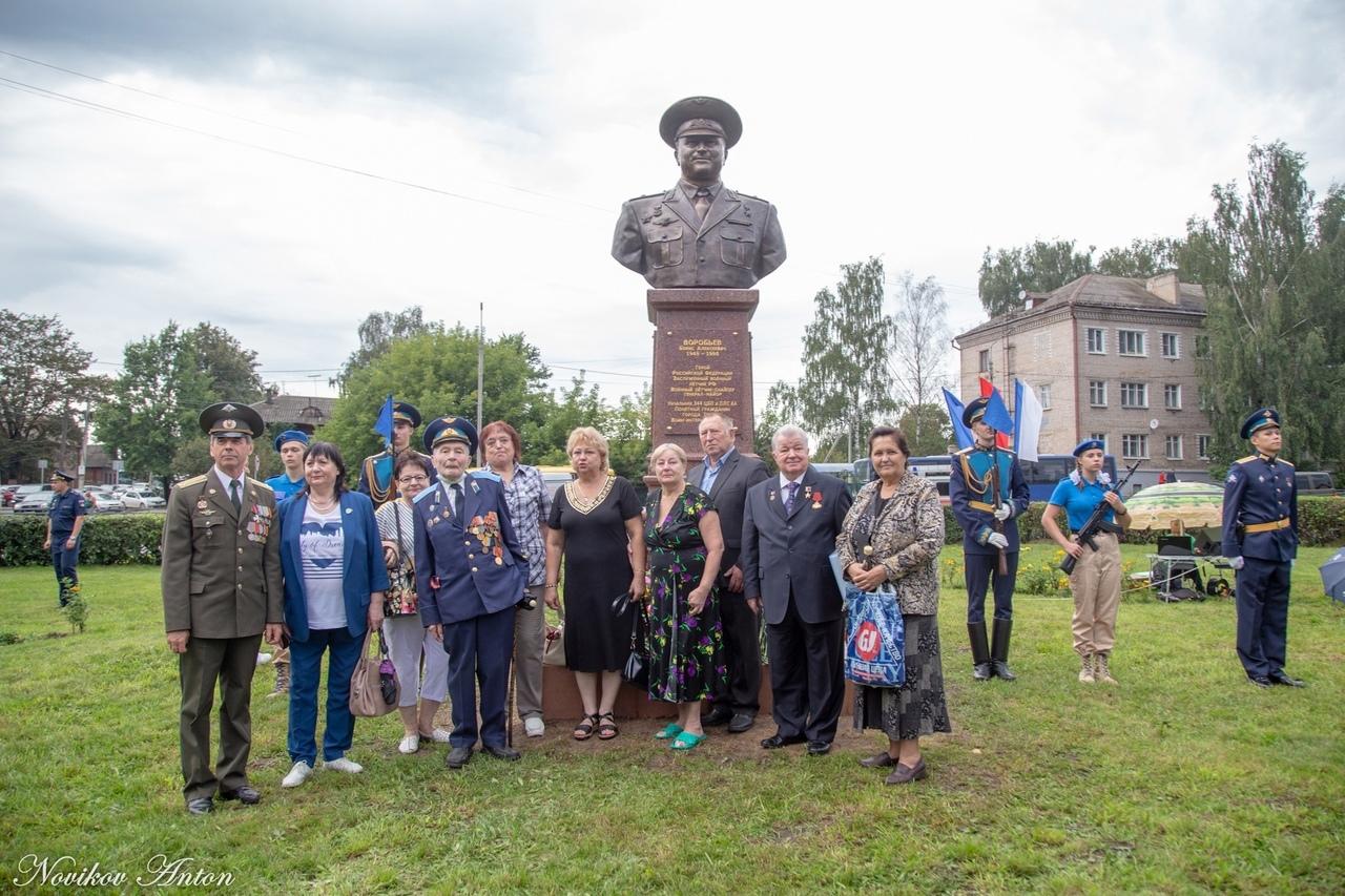 В Тверской области открыли памятник Герою России Борису Воробьёву