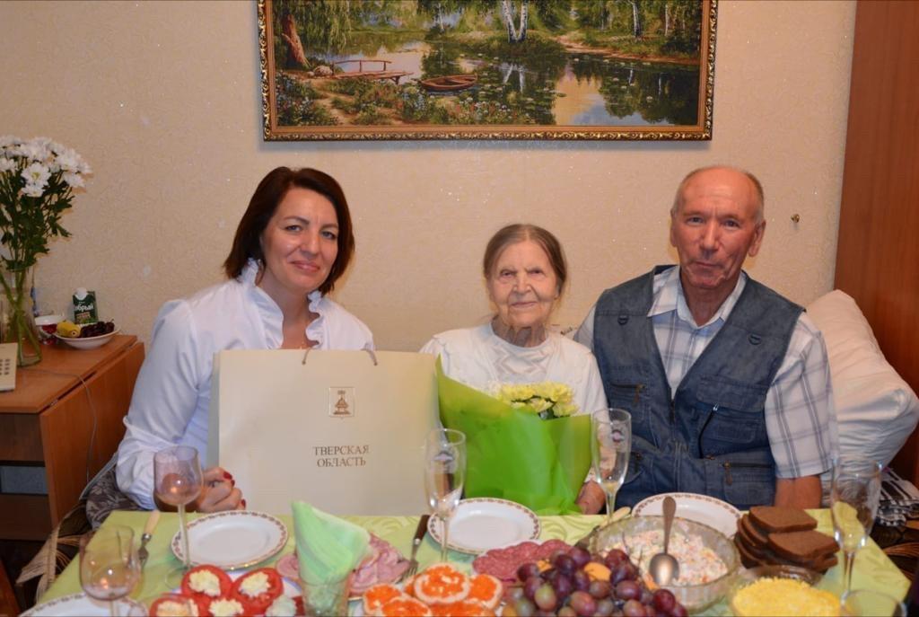 В Тверской области отмечает юбилей ветеран Великой Отечественной войны