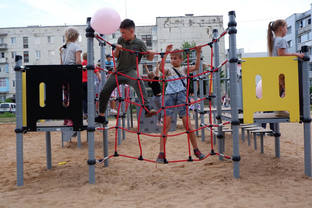 В Лихославле открылась новая спортивно-игровая площадка