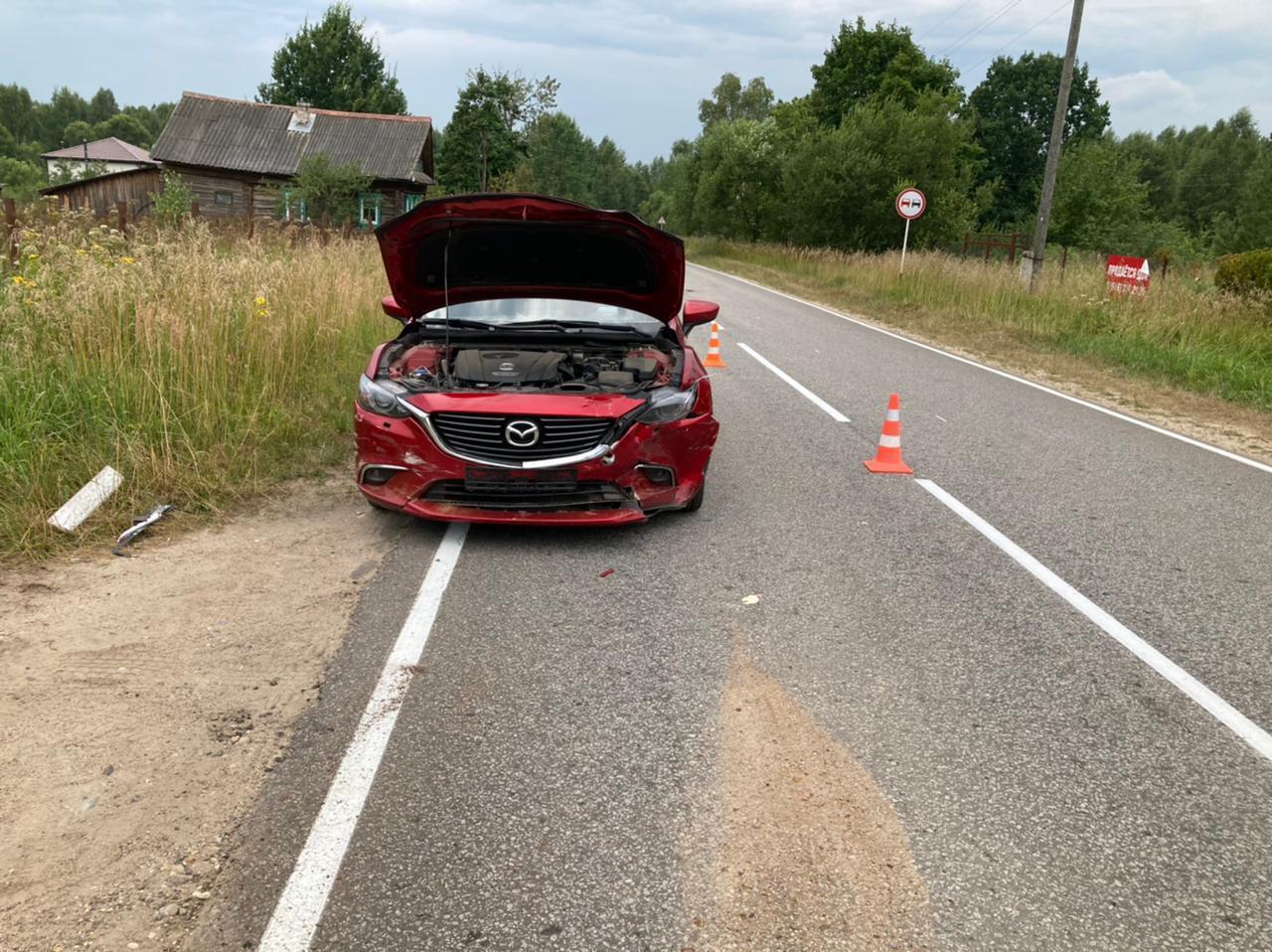 В Тверской области столкнулись Honda и Mazda