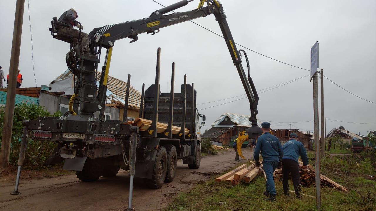 В Андреаполе создан резерв материалов для продолжения строительных работ