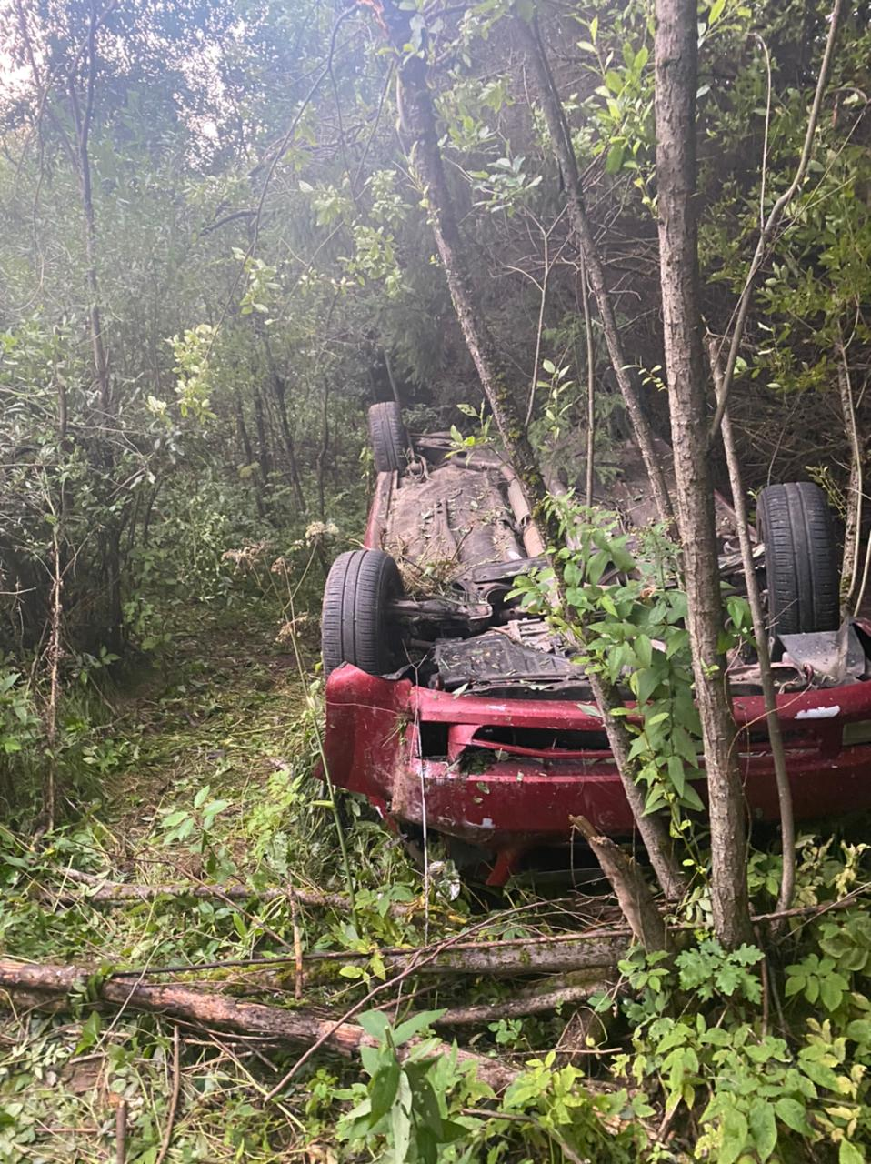 В аварии на дороге под Тверью пострадали водитель и автомобиль