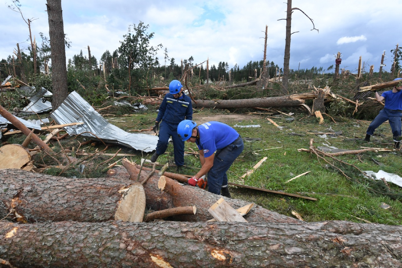 Жителям Тверской области, потерявшим кров из-за урагана, купят новые дома