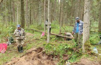 В Тверской области поисковики нашли останки летчика на месте крушения самолета И-16