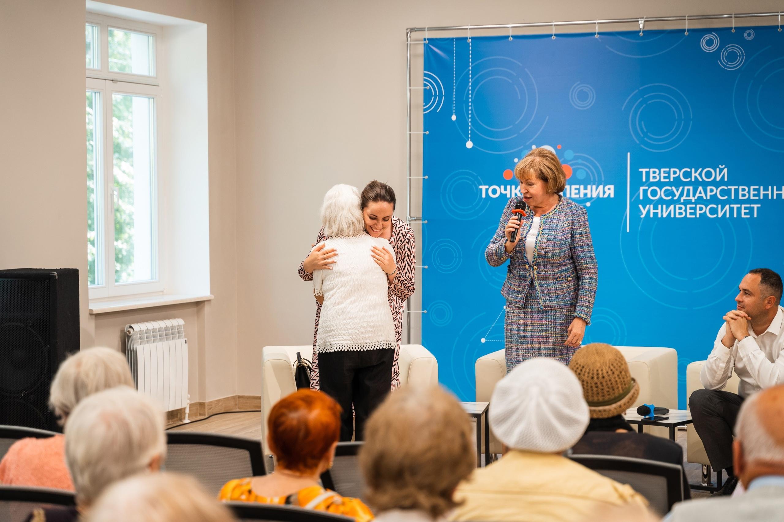 Боевая и очень душевная: бывший вахтер ТвГУ пришла на встречу с Юлией Сарановой, чтобы рассказать правду о её студенчестве