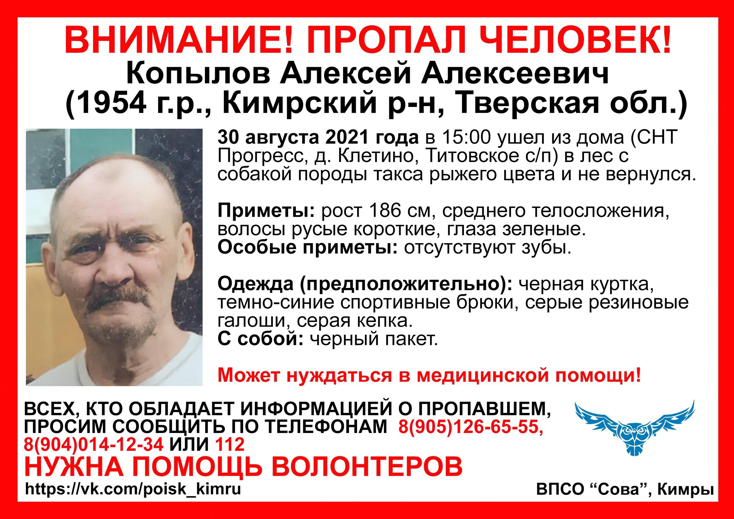 Житель Тверской области ушёл в лес с собакой и не вернулся