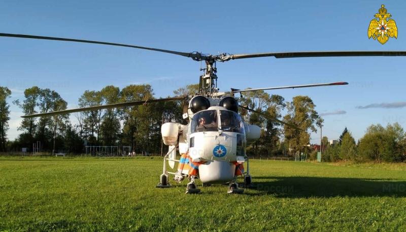За три часа санитарный вертолёт доставил ребёнка в Тверь
