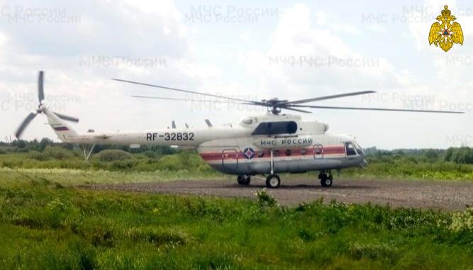 Жителя Тверской области экстренно доставили на вертолёте в ОКБ