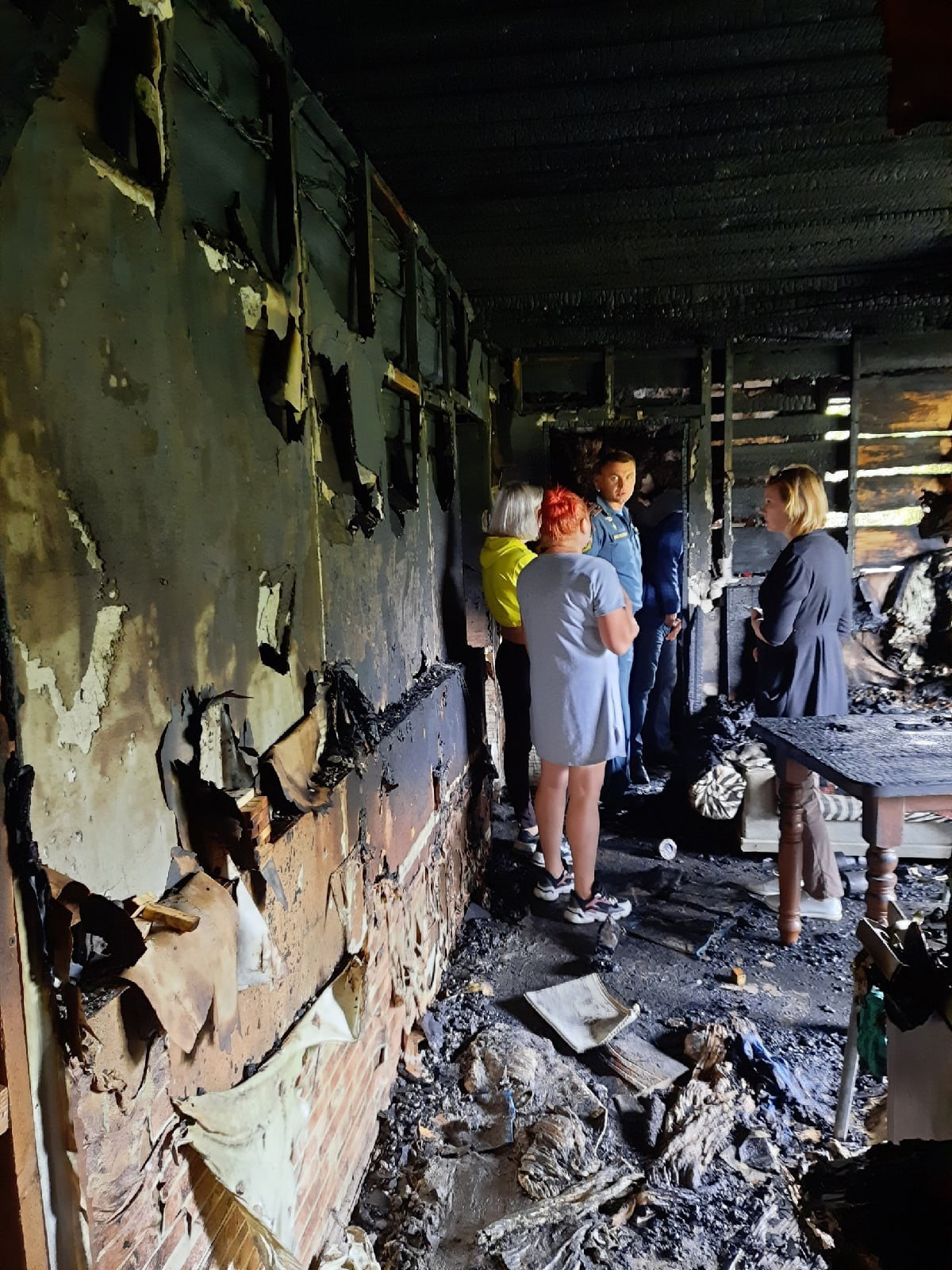 Семья из Тверской области осталась без крова из-за пожара