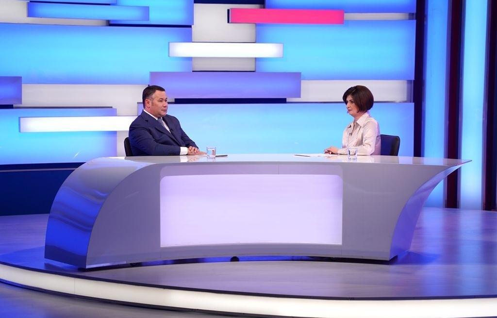 Губернатор ответил на вопросы жителей Тверской области в прямом эфире