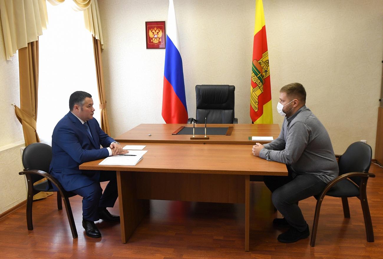Житель Тверской области пришел к губернатор просить в деревню газ