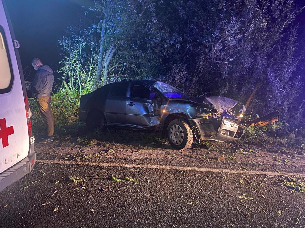 В деревне Тверской области пьяный водитель не удержал руль