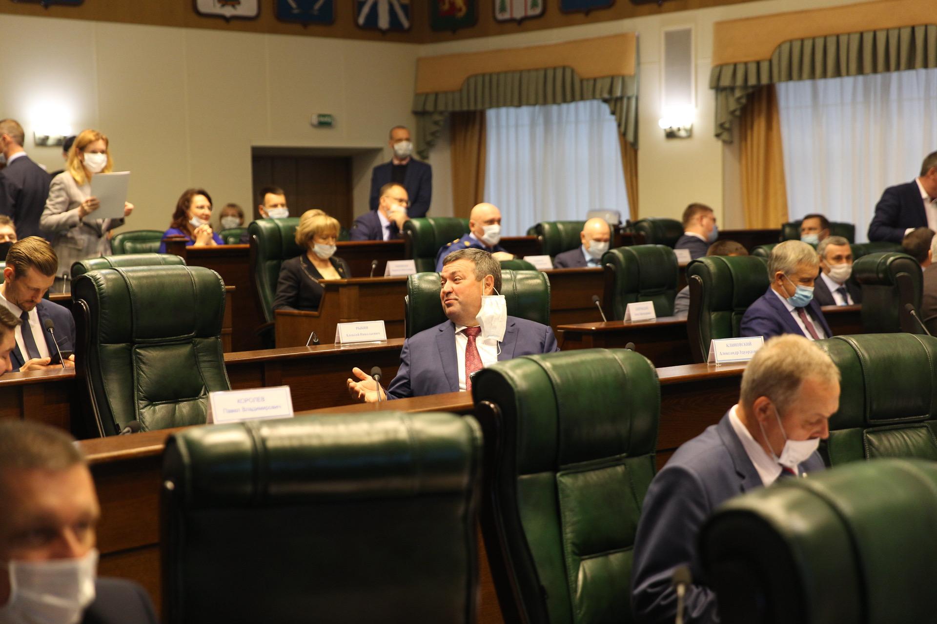 Игорь Руденя принял участие в первом заседании Заксобрания седьмого созыва