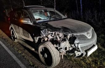 Появились фото аварии, в которой погиб пешеход в Тверской области